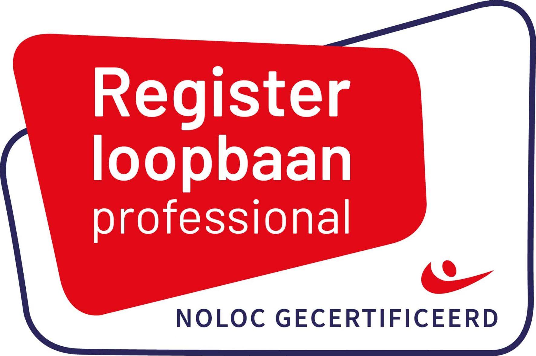 Register loopbaan professional Noloc gecertificeerd